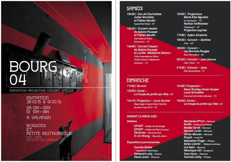 Flyer Bourg 4 - 2015